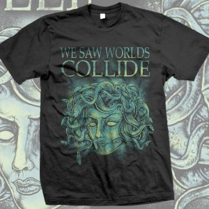 "T-Shirt ""Medusa"" blue-green"